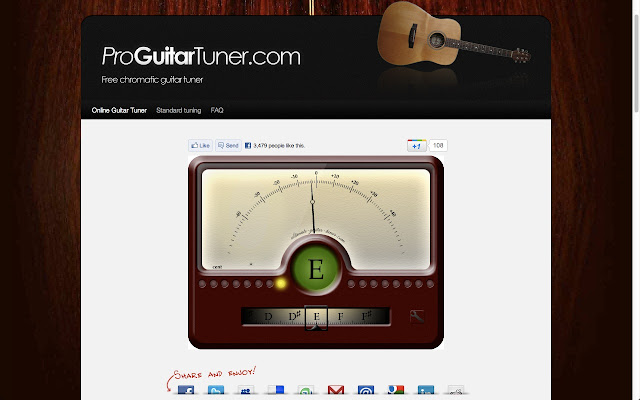 online guitar tuner chrome web store. Black Bedroom Furniture Sets. Home Design Ideas