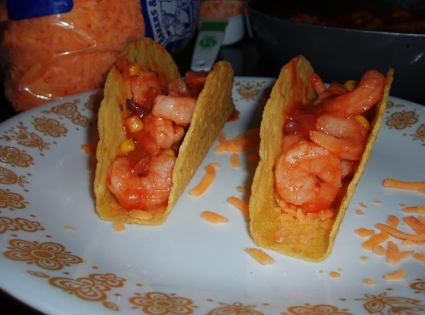 Then add Shrimp salsa to shells..