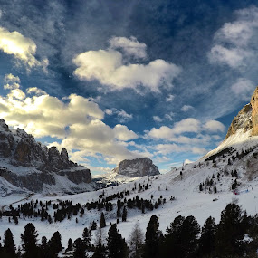 Dolomites by Ivana Tilosanec - Landscapes Mountains & Hills ( sky, dolomites, mountains, nature, snow, winter, clouds, landscape, italy,  )