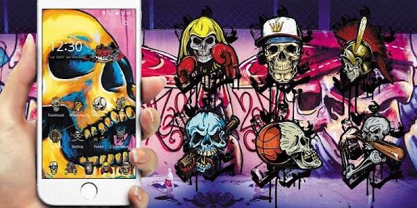 Colorful Skull Graffiti screenshot 3