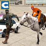 Police Horse Chase: Superhero Icon
