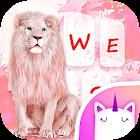女孩的酷粉红狮子键盘主题 icon