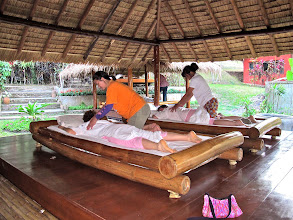 Photo: Thai massage in the garden at Mae Sa Valley Resort