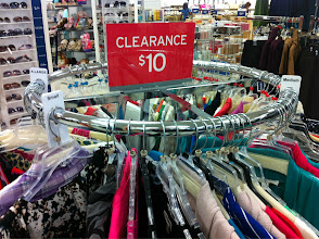 Photo: You can't be a frugal shopper without checking out the Clearance rack.