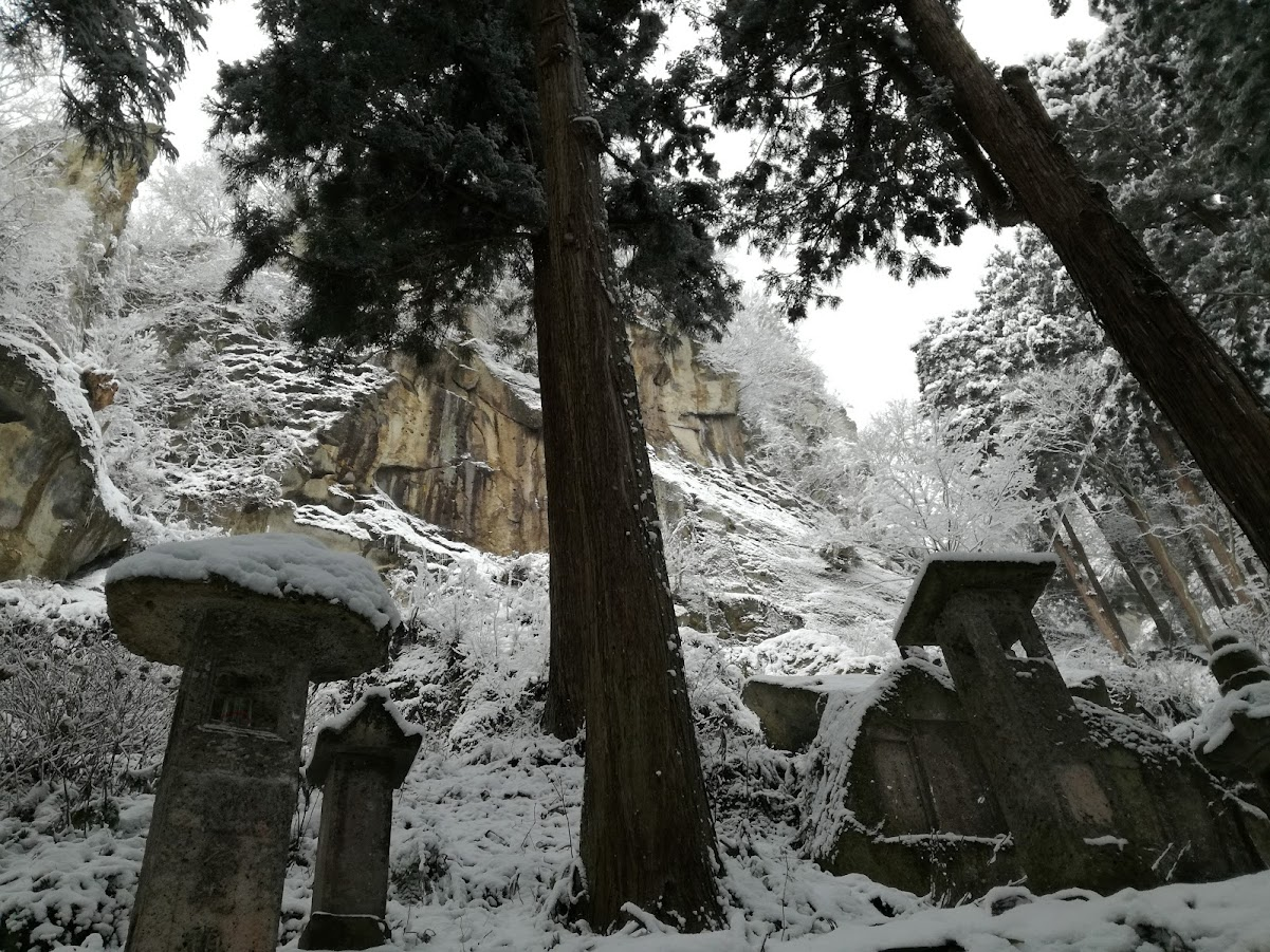Forest in Yamadera Hoju-san Risshaku-ji.