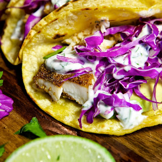 Fish Tacos with Cilantro Lime Sauce [+ Video]