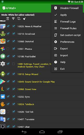 AFWall+ (Android Firewall +) 3.4.0 screenshots 9