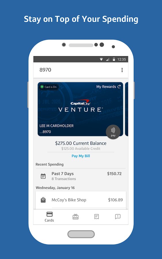 Capital One Wallet- screenshot