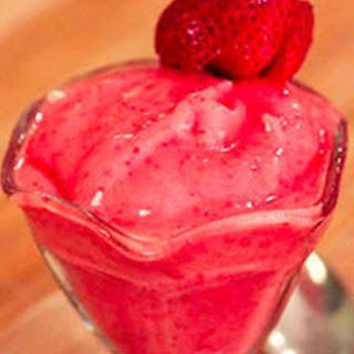 Sugar-Free Strawberry Frozen Yogurt.