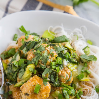 Thai Chicken Meatballs with Coconut Curry Sauce.