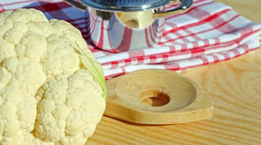 Arroz de coliflor con pavo y curry, en nuestro menú saludable
