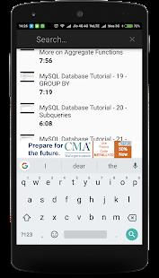 MySQL Database Tutorial - náhled
