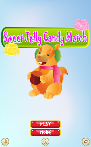 Sweet jelly candy match