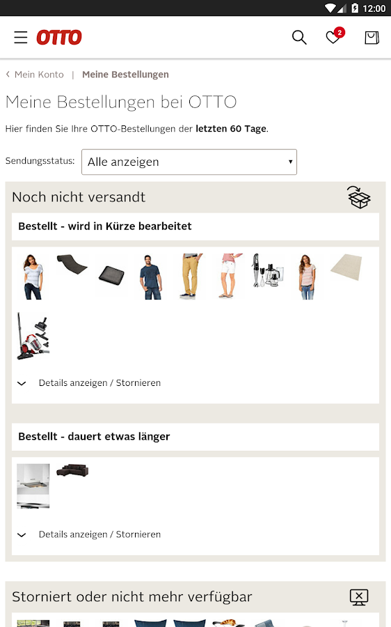 OTTO - Mode & Fashion-Shopping- screenshot