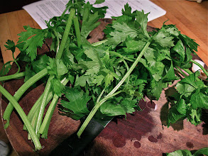 Photo: using only the leaves and tender stems of Asian celery