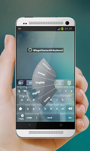玩個人化App|翼のある馬 GO Keyboard免費|APP試玩