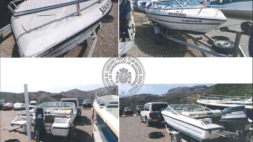 El Estado subasta dos barcos y tres vehículos decomisados a traficantes