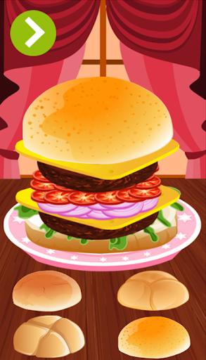 Hamburger cooking games
