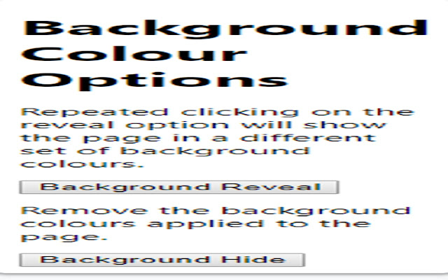 Background Colours