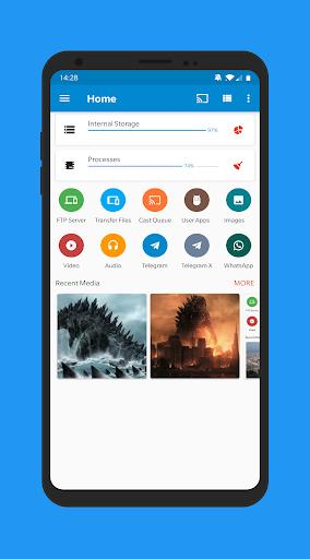 Code Triche Gestionnaire de fichiers pour Cloud, stockage USB APK Mod screenshots 1