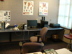 Photo: Computerized speech and anatomy lab of on site clinical training.
