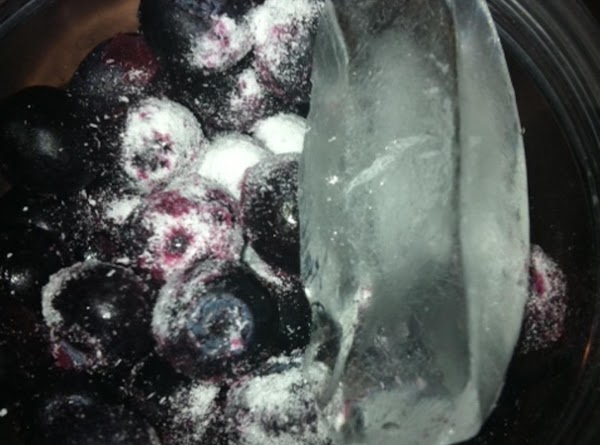 Place frozen fruit in blender or bullet  Add 1/2 to 1 packet artificial sweetener or...