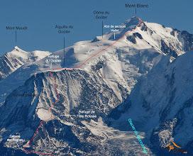 Photo: Start: 9.08.2014 godz. 11:30 , Les Houches 1000m npm Meta: 14.08.2014 godz. 8:51, Mt Blanc 4810m npm