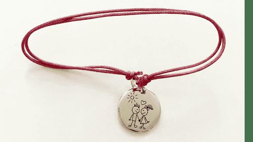 bracelet médaille amoureuse