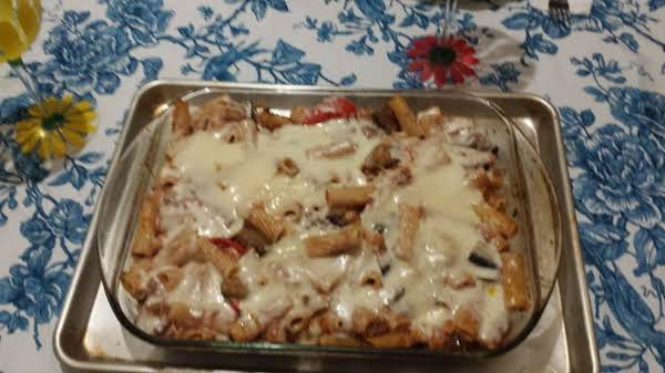 Eggplant Pasta With Lots Of Cheese
