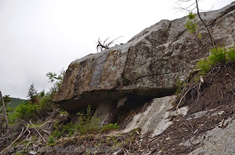 Photo: Platform of bedrock a couple hundred feet up; a nice place to rest.