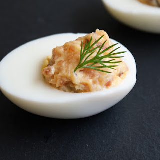 Saturday Afternoon Platter – Smoked Salmon Devilled Eggs