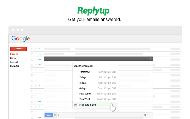ReplyUp Email Tracking and Followups