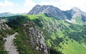 Auf dem Weg zum Ponten und Bschießer Allgäu Tirol