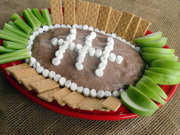 Chocolate Fluffernutter Football Dip Recipe