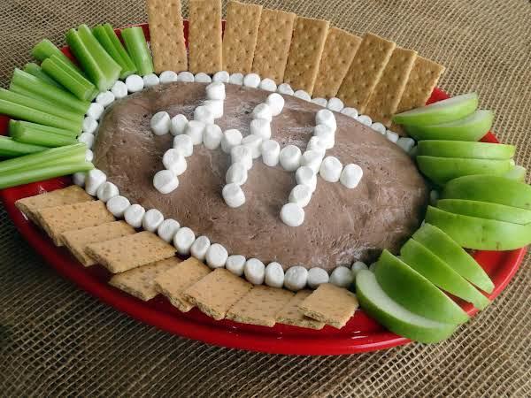Chocolate Fluffernutter Football Dip Recipe