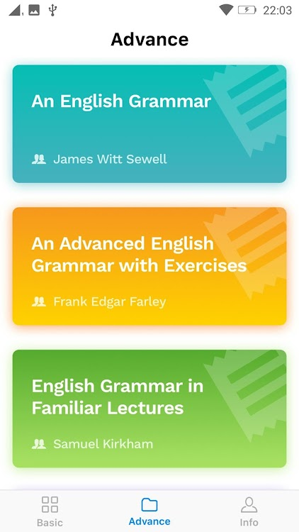 English Grammar - Learning Books & Test - Offline – (Android