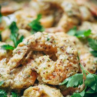 Spanish Shrimp with Garlic Bread Sauce