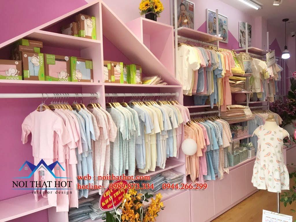 thiết kế cửa hàng trẻ em shop me ken 7