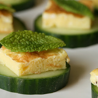 Egg, Mint and Cucumber Canapés