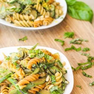 Vegan Summer Zucchini and Asparagus Pesto Pasta