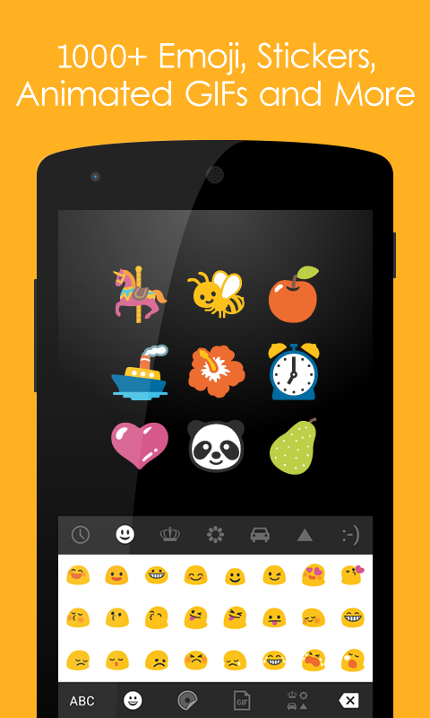Ginger Keyboard - Emoji, GIFs, Themes & Games- screenshot