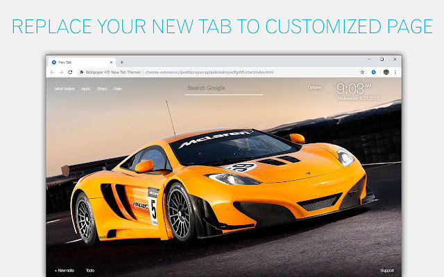 McLaren Cars Wallpaper NewTab - freeaddon.com