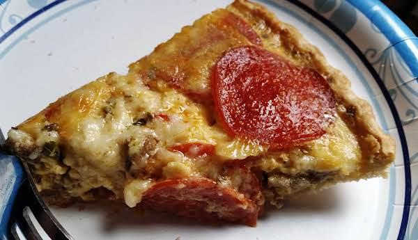 ~ Pizza Quiche Pie ~ Recipe