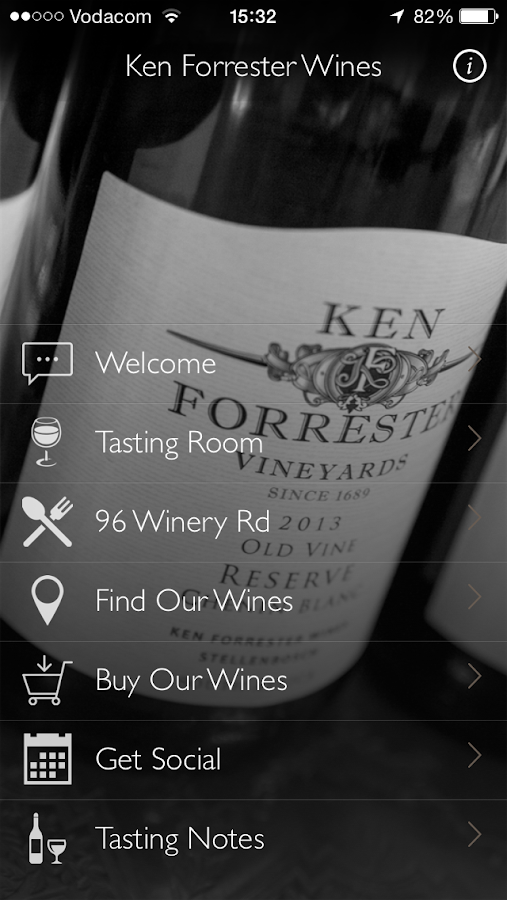 Ken Forrester Wines- screenshot
