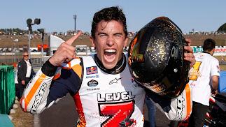 Márquez logra su séptimo título en casa de Honda
