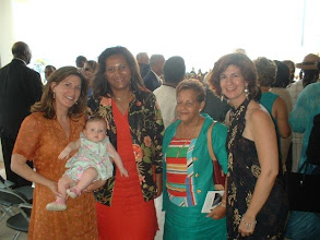 """Photo: (Date of picture : May 30, 2003) My big sister (Left) Maria Cristina de Lugo (she is JFK's Goddaughter) and her baby daughter Victoria Maria, Guests at the dedication ceremony, and (Right) Angela Maria de Lugo """"Gigi"""". Ron de Lugo & his first wife, Maria de Lugo, had two children, both girls, born on St Croix, USVI in 1959 and 1960 """"Cristina & Gigi """""""