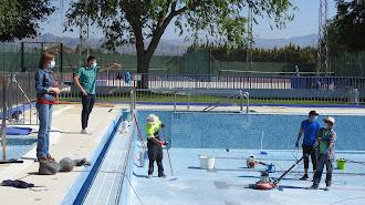 Obras de adaptación en la piscina municipal de Huércal-Overa.