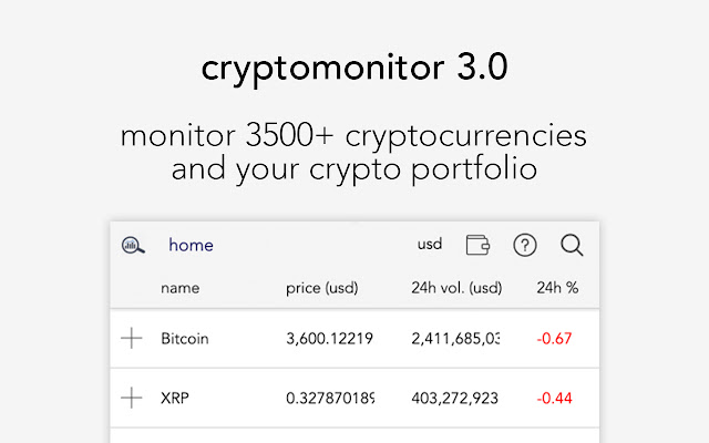 CryptoMonitor - Crypto portfolio tracker!