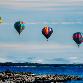 Four of a kind by Paul Drajem - Transportation Other ( landscapes, seascape, hot air, balloons, floating, aircraft, hot air balloons, transportation )