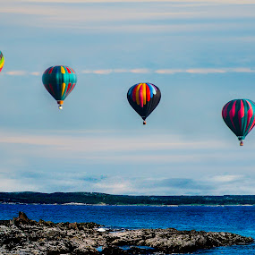 Four of a kind by Paul Drajem - Transportation Other ( landscapes, seascape, hot air, balloons, floating, aircraft, hot air balloons, transportation,  )